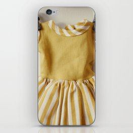 Doll Closet Series - Mustard Stripe Dress iPhone Skin