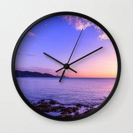 Saint Maxime Sunset Wall Clock