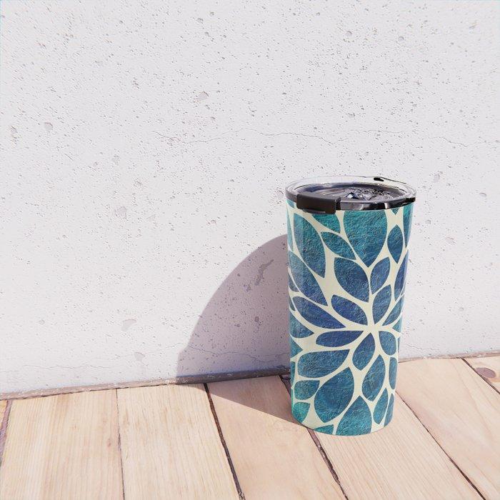Petal Burst - Turquoise Travel Mug