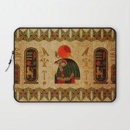 Egyptian Horus Ornament on Papyrus Laptop Sleeve