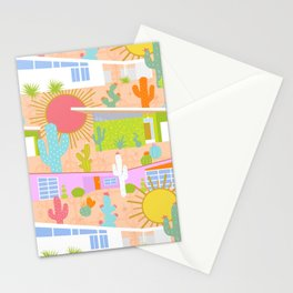 Midcentury Modern Desert Neighborhood Stationery Cards