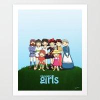 miyazaki Art Prints featuring Miyazaki Girl's by TubaTOPAL