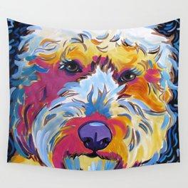 Goldendoodle or Labradoodle Pop Art Dog Portrait Wall Tapestry