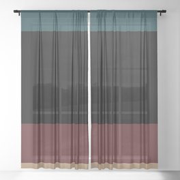 Contemporary Color Block XII Sheer Curtain