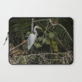 Great White Egret on a Branch Laptop Sleeve