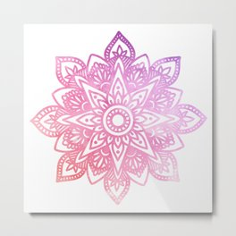 Watercolor Mandala Metal Print