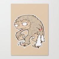 sasquatch Canvas Prints featuring Sasquatch by rebecca miller