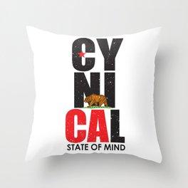 CyniCAl Throw Pillow