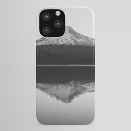 Wild Mountain Sunrise - Black and White Nature Photography iPhone Case