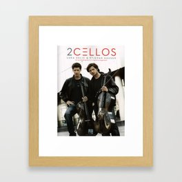2 CELLOS TOUR WORLD 2017 Framed Art Print