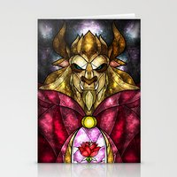 mandie manzano Stationery Cards featuring The Beast by Mandie Manzano