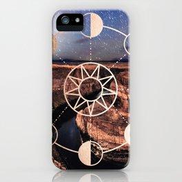 Mandala Southwest Desert Sun and Moon Phases iPhone Case