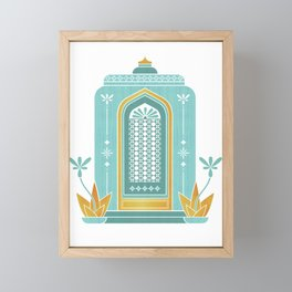 Moroccan Doorway Framed Mini Art Print