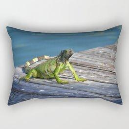 Green Iguana - Grand Cayman Rectangular Pillow