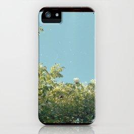White Flower Bush iPhone Case