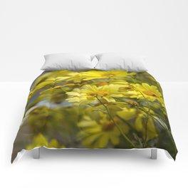 Yellow Daisies  Comforters