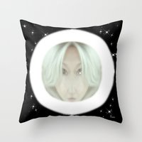 portal Throw Pillows featuring Portal by Geni