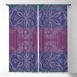 Mandala Drawing Blackout Curtain
