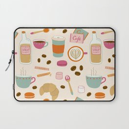 Drawing Coffee in a Café Laptop Sleeve