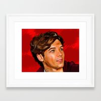 louis tomlinson Framed Art Prints featuring Louis Tomlinson  by Tune In Apparel
