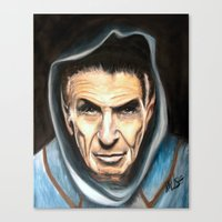spock Canvas Prints featuring Spock by James Kruse
