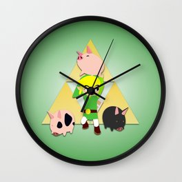 Wind Waker Pigs Wall Clock