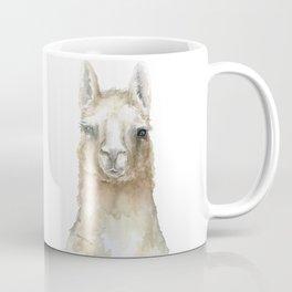 Llama Watercolor Painting Coffee Mug