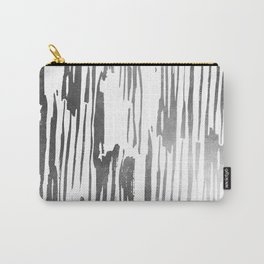 Modern Stripes Gray Carry-All Pouch