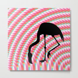 Flamingo Illusionist Metal Print