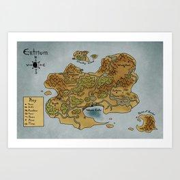 Fallen Map Art Print