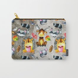 Woodland Animal Friends in forest -pattern for children Carry-All Pouch