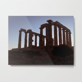 Temple of Poseidon Metal Print