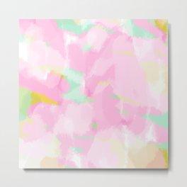 Heather - light purple Abstract digital painting Metal Print