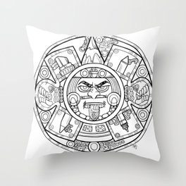 Pencil Wars Shield Throw Pillow