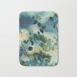 Abstract Shadows Cyanotype Bath Mat