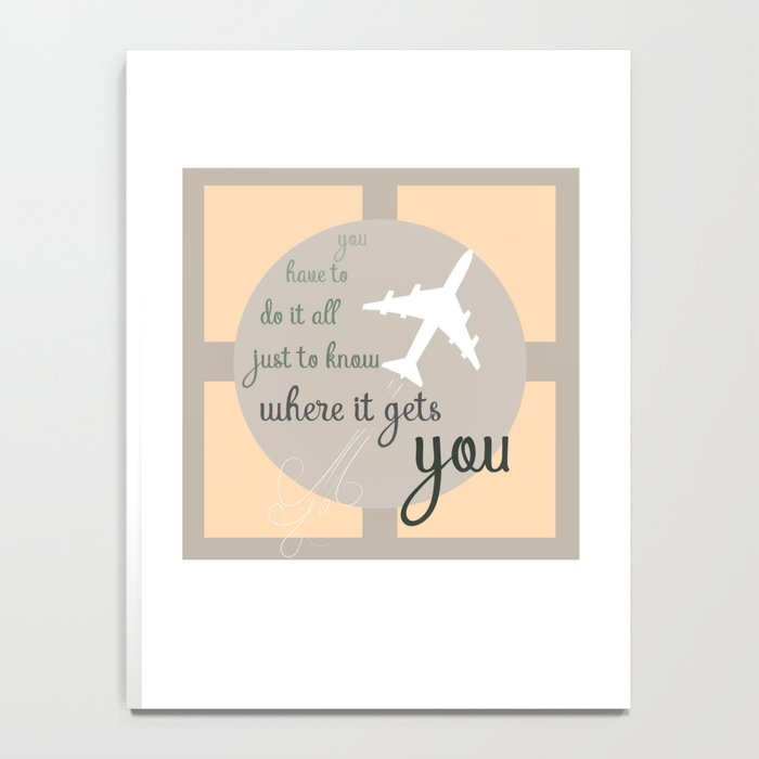 Travel quote- inspirational quote- wanderlust quote- airplane- plane- success Notebook