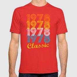 39th Birthday Gift Vintage 1978 T-Shirt for Men & Women T-Shirts and Hoodies T-shirt
