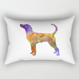 English Foxhound in watercolor Rectangular Pillow