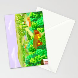 Country Scene with Farms Stationery Cards