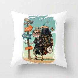 It is never too late to travel around the world Throw Pillow