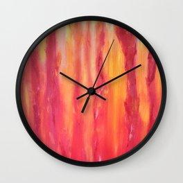 Watching the flames dance Wall Clock