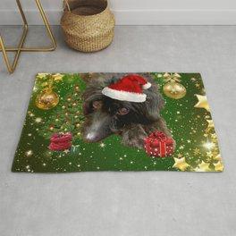 Christmas Dog Poodle Doodle Rug