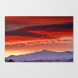 Veleta sunrise Canvas Print