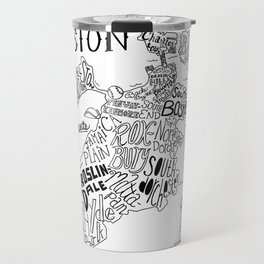 Boston Map Travel Mug
