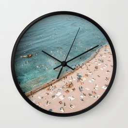 Beach Print, Bondi Beach, Aerial Print, Travel Print, Ocean Wall Art, Coastal Print, Art Print, Home Decor, Sea Coast, Aerial Photo Wall Clock