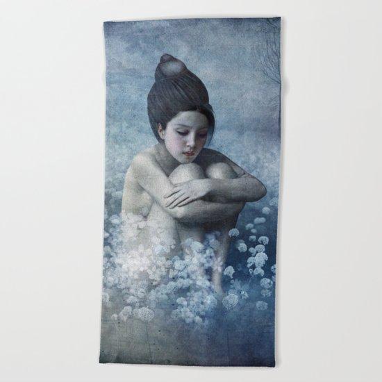 Shadow Field Beach Towel