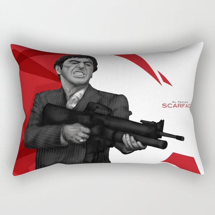 Tony Montana Rectangular Pillow