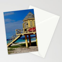 Caribbean lifeguard station Stationery Cards