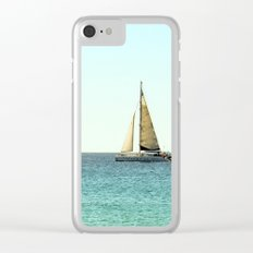 Sail Away with Me - Ocean, Sea, Blue Sky and Summer Sun Clear iPhone Case