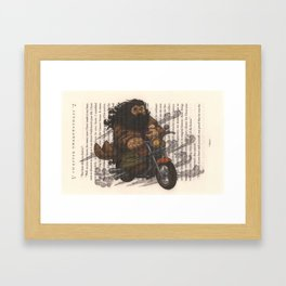 Hagrid Fantasy Art Print Framed Art Print